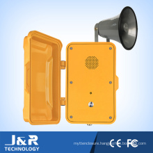 Emergency Telephone, Single Button Speaker Phone with Voice Annunciation