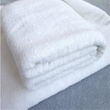 Waffle de algodão branco toalha de pé de banho