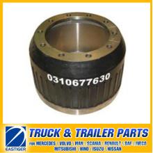 Pièces de remorque du tambour de frein 0310677630 pour BPW