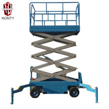 14 m 0,3 toneladas carga china proveedor CE barato jlg motocicleta tijera elevadora móvil