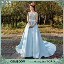 Lange Party Frock Designs blau Vestidos de Fiesta Abendkleid elegante Abendkleider Abend Abnutzung für Damen