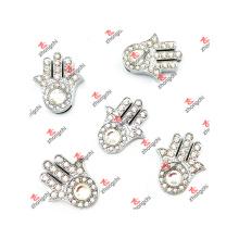 10mm Slide Crystal Palm Charms Bijoux pour cadeaux de diapositives (CJG50919)