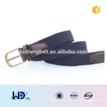 2016 for women customised metal buckle fabric elastic web belts