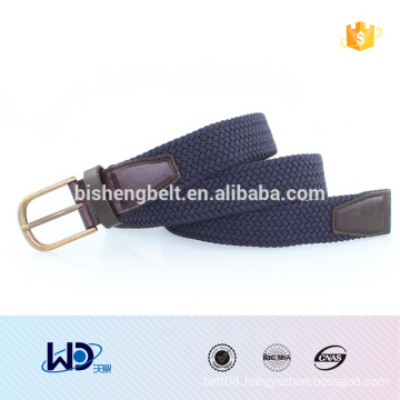 2016 for women customised metal buckle fabric elastic web belts