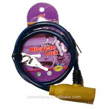 JML завод Продажа велосипед замок / резиновый велосипед кабель замок / дешевый замок для велосипеда