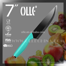 """7"""" Black Ceramic Paring Knife with Stainless Steel Endcap China OEM"""