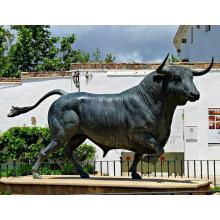 escultura de tourada do bronze do ofício do metal da fábrica de bronze para a venda