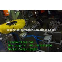 3 ejes 2 cabezales de perforación y 1 cabezal tufting rodillo cepillo máquina / CNC rodillo cepillo fabricación máquina / rodillo cepillo maquinaria proveedor