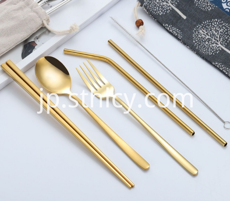 304 Gold Stainless Steel Small Cutlery Set