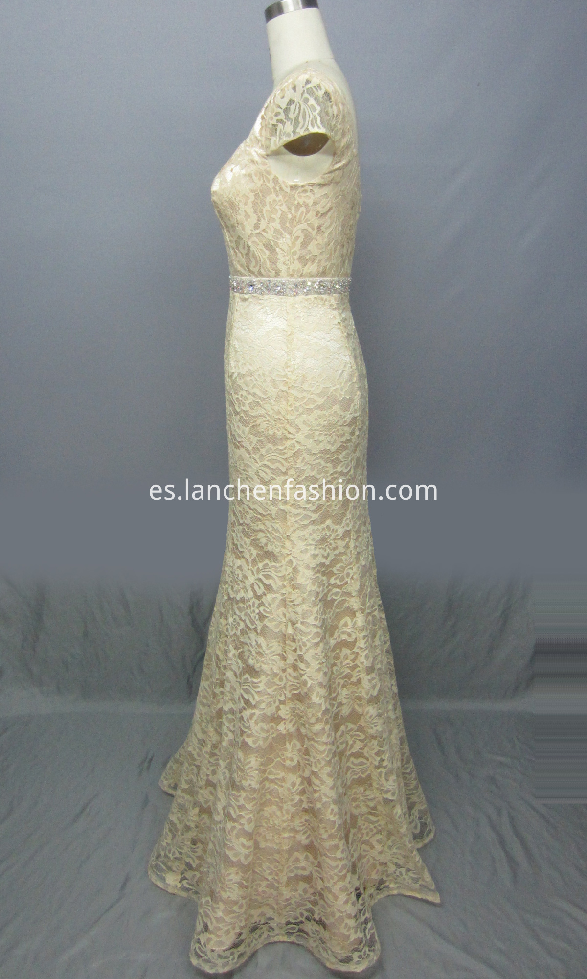Cap Sleeve Lace Dressside