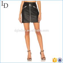 Großhandel in Chia Lederrock Bleistift schwarz mit Reißverschluss Kleid