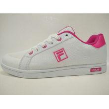 Blanco Malla Casual Skateball Calzado Mujer Zapatos