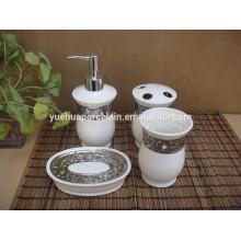 Современная декоративная керамическая фурнитура для ванных комнат установлена со сталью 2015