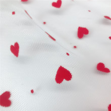 Fancy Design Heart DOT Flocado para el vestido