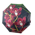 Stock Stock Wholesales Promotion Flower Picture Print Automatic Open Close Fold Umbrella
