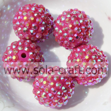 Groothandel Charms Rose AB hars Rhinestones Spacer kralen 18 * 20MM