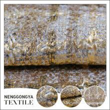 Custom logo Different kinds of beautiful slub polyester woven fabric