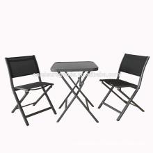 3pcs set outdoor aluminium patio furniture for garden