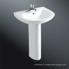 Lavabo de salle de bain d'angle avec piédestal
