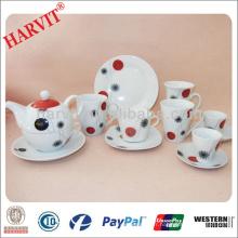 Elegant Ceramic Porcelain Breakfast Sets / Table de petit déjeuner Set / High Tea Plates Coffee Cups Saucers Plateaux Ensembles