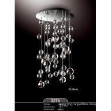 Hot Sale Home Hotel Chrome Glass Pendant Lamp (P2274-8)