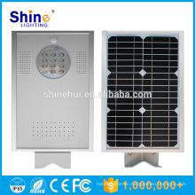 Fábrica de fábrica de iluminación de China 12 vatios baratos llevó luz de calle con panel solar de energía solar