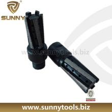 "1/2 ""gás sinterizado Diamond Finger Router Bits para Stone Milling"