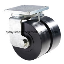 K80 Super Heavy Duty Shock Absorption Swivel Caster, Mc Nylon Wheel