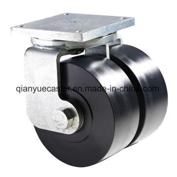 K80 Super Heavy Duty Shock Absorption Swivel Caster, Mc Nylon Wheel
