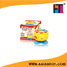 Novelty Kids Plastic Music Instrument Toy B/O Mini Drum Toy Music Toy