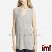 Cashmere Deep V-Neck Sweater Vest