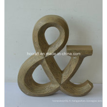 MDF Letter with Distressed Finished for Home Decoration