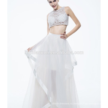 Новые Дамы Чистый Белый Без Рукавов Сексуальный Вечернее Платье Для Мусульманских