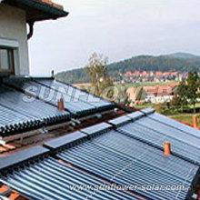 Collecteur solaire en tuyau de chaleur au cuivre avec EN-12975
