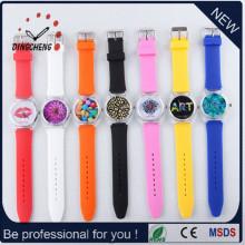 2015 heiße Verkaufs-Charme-Art- und Weiserunde Kopf-Armbanduhr (DC-993)