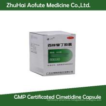Cápsula de Cimetidina Certificada GMP