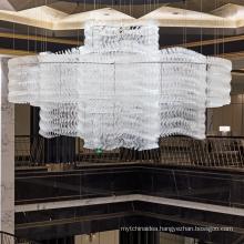 Modern art glass chandelier lighting lobby decorative lighting hanging pendant light