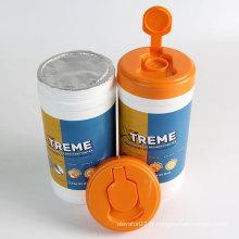 Lingettes désinfectantes alcoolisées pour tissus non tissés Barrel