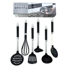 Ensemble d'ustensiles de cuisine en nylon de qualité alimentaire, 6 pièces