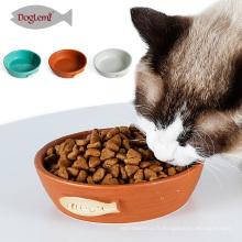 2017Doglemi New Selling Céramique Pet Cat Feeder Bowl