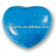 Corações azuis da pedra de Howlite dos 40MM