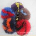 2016 Multicolor Fur Pom Poms Charms Letter Logo Брелки Брелок