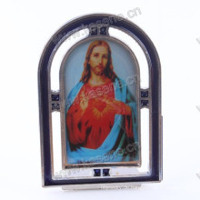 Zink-Legierung Gualalupe Rahmen, katholischen religiösen Jigs Metall stehenden Kruzifix