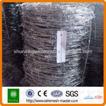 Produção em massa de arame farpado galvanizado