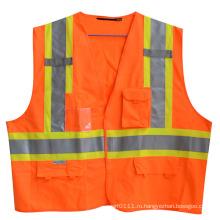3м светоотражающие полосы карман на липучке высокая видимость жилет безопасности (YKY2813)