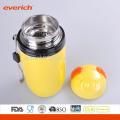 16 onças de aço inoxidável de parede dupla de vácuo recipiente de chá cor revestida de amarelo