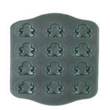 12 Cup Cast Iron Christmas Snowman Muffin Pan Mold Cookie Pan