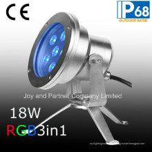 24V 18W Tricolor светодиодный подводный свет IP68 (JP95566)