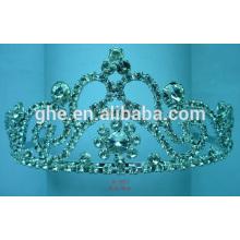 Rhinestone-Festzugkronenweinlese-Kristalltiara-Prinzessinkrone Ring neues Entwurfshaar
