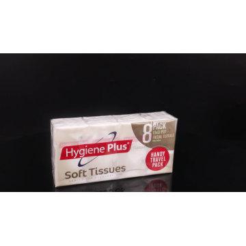 3-lagiges Zellstoffpapier-Gesichtstaschentuch